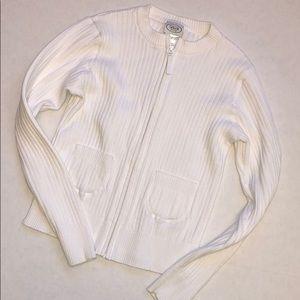 🎈 3/$18 Talbots kids cardigan sz 12 100% cotton